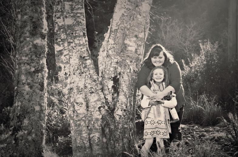 Vicki and Ang by Tree BandW