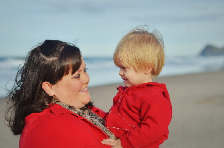 Vicki and Braydin by Ocean