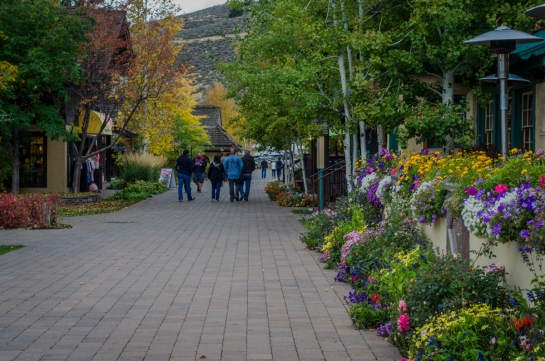 Sun Valley Resort Inn Path to Shops Idaho